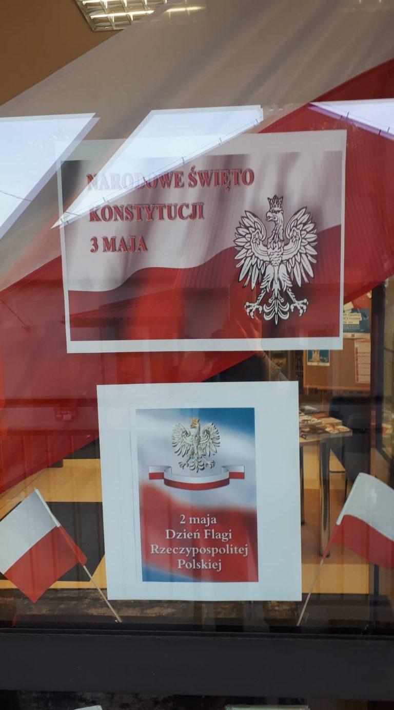 flaga Polski naniej Godło Polski